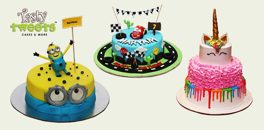 Fine Birthday Cakes Delivery Birthday Cakes For Kids Tasty Tweets Funny Birthday Cards Online Overcheapnameinfo