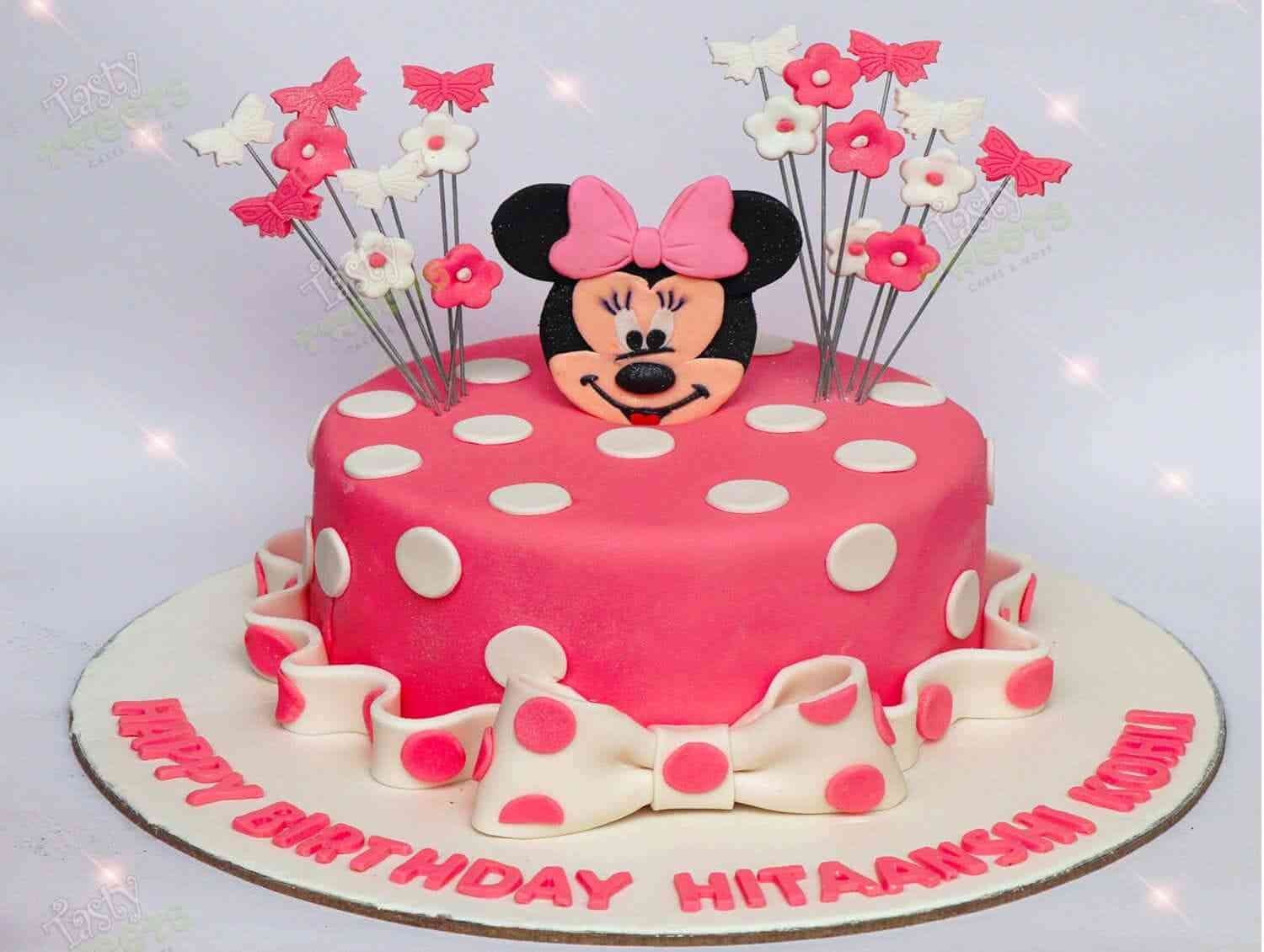 Fantastic The Sweet Minnie Minnie Birthday Cakes In Gurgaon Personalised Birthday Cards Paralily Jamesorg